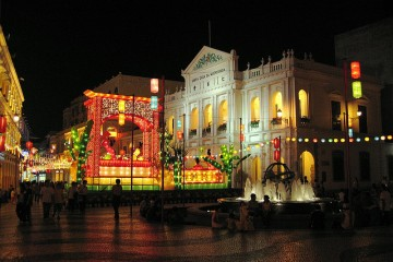 Senado Square at Night, Macau