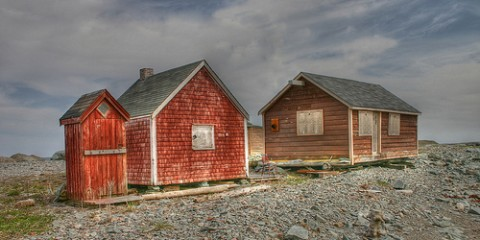 Shacks at Low Tide, Nova Scotia