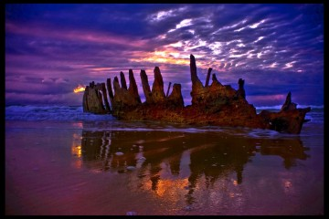 Reflections of a Relic Ship, Queensland