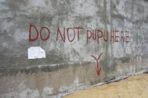 "Sign: ""Do Not Pupu Here"", Liberia"