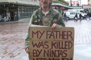 Signspotting: Ninjas Killed My Father, Seattle