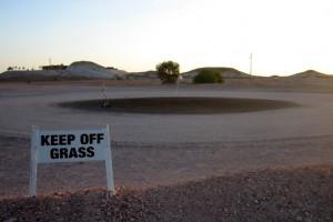 Sign: Keep Off Grass, Coober Pedy, South Australia