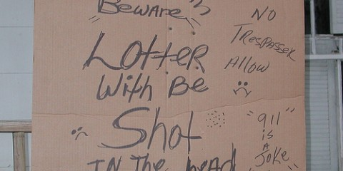 Sign: Lotter Will Be Shot