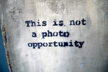 Sign: This is Not a Photo Opportunity, London