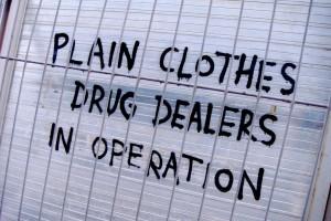 Sign: Plain Clothes Drug Dealers, England