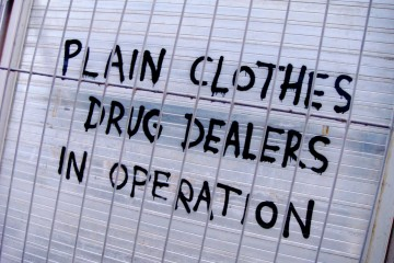 Sign: Plain Clothes Drug Dealers, England