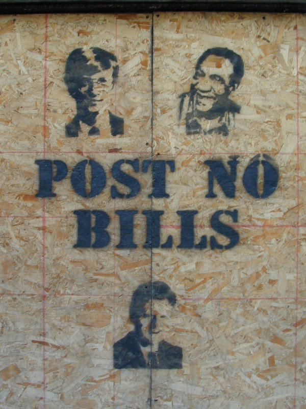 Sign: Post No Bills (Toronto, Canada)