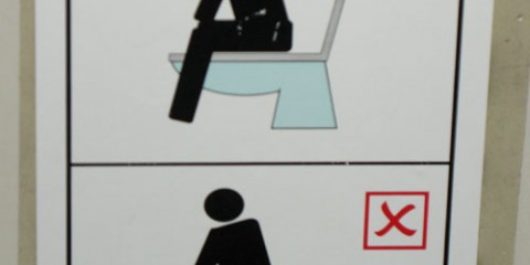 Signspotting: Please Sit on Sitting Toilet
