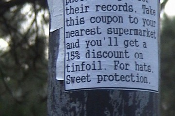 Sign: 15% Off Tinfoil Hats!, New Zealand