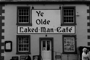 Sign: Ye Olde Naked Man Cafe