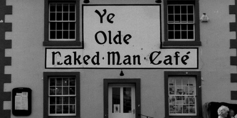 Sign: Ye Olde Naked Man Cafe