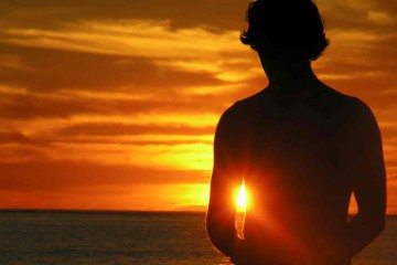 Man's Silhouette on Beach in Fiji