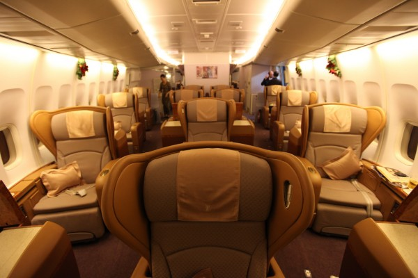 First Class Cabin on Singapore Airlines