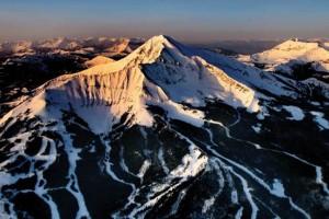 Ski Area of Moonlight Basin, Montana (aerial)