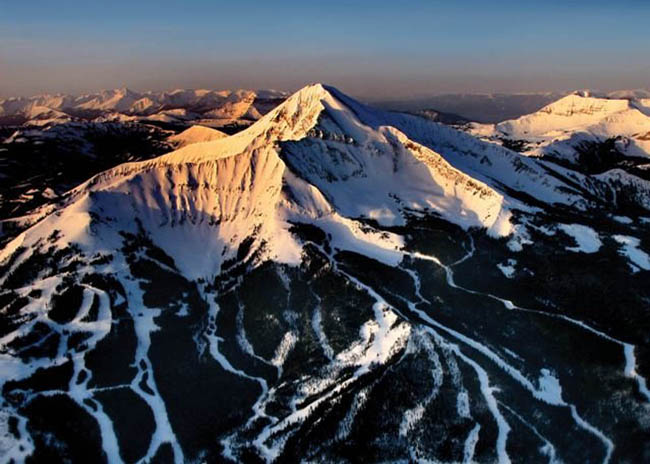 Ski Area of Moonlight Basin, Montana (aerial)
