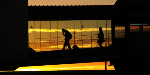 Skywalk Silhouettes at Barcelona International Airport