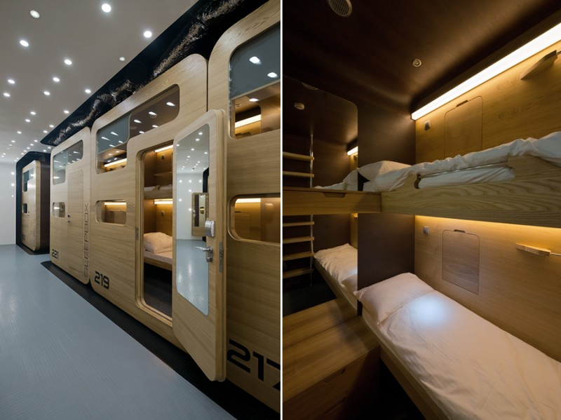 Sleepbox Hotel in Moscow, Russia (interior)
