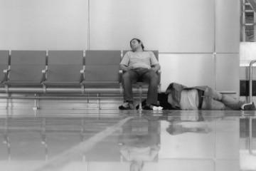 Sleeping in Madrid Airport