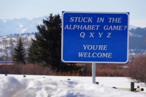 Sign: Stuck in the Alphabet Game?