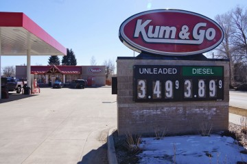 Kum & Go Filling Station, Northwest Wyoming