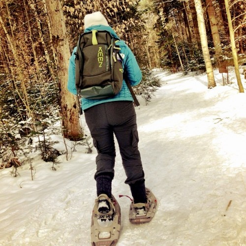 Snowshoeing Wiessner Woods, Stowe, Vermont