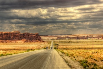 Southbound Toward Monument Valley, Utah
