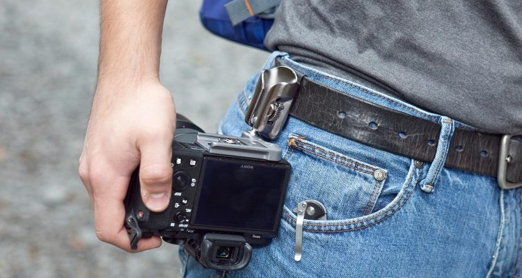 Spider's SpiderLight Backpacker Kit Camera Holster (closeup on belt)