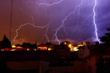 Spring Lightning Storm in Buenos Aires, Argentina