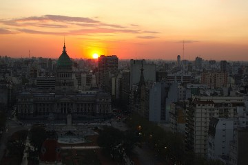 Spring Sunset in Buenos Aires, Argentina