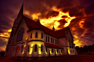 End Times at St. Mary's Church, Indian River, Prince Edward Island, Canada