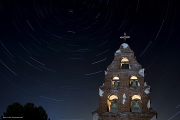 Stargazing at Mission San Miguel, California
