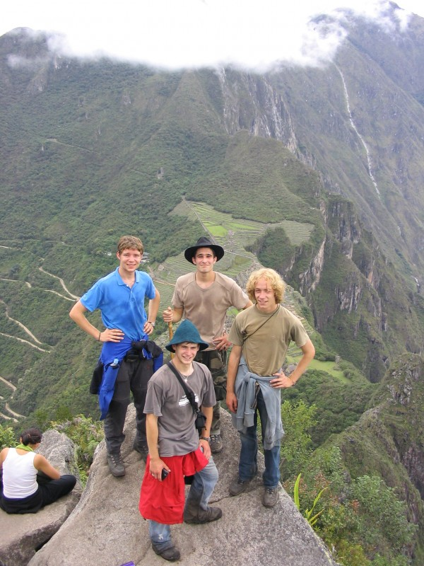 Stefan with Friends at Machu Picchu, Peru (May, 2005)
