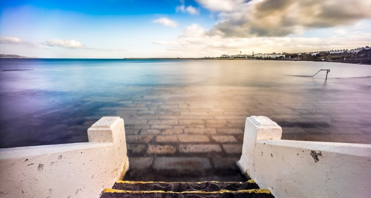Steps at Seapoint in Dublin, Ireland