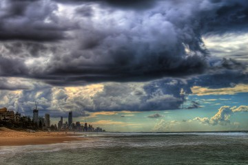 Impending Clouds Over Gold Coast, Queensland, Australia