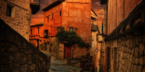 Streets of Albarracin, Spain