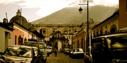 Looking Up in Antigua, Guatemala