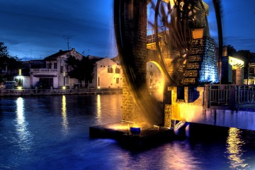 The Sultanate Water Wheel of Melaka, Malaysia