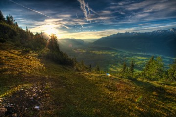 A View from the Summit of Lacke Mountain, Austria