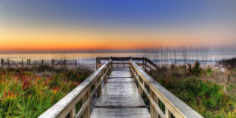Sunrise on the Boardwalk, Florida