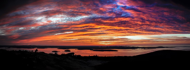 Sunrise Atop Cadillac Mountain in Acadia National Park, Maine