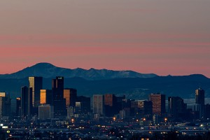 Sunrise Over Downtown Denver, Colorado
