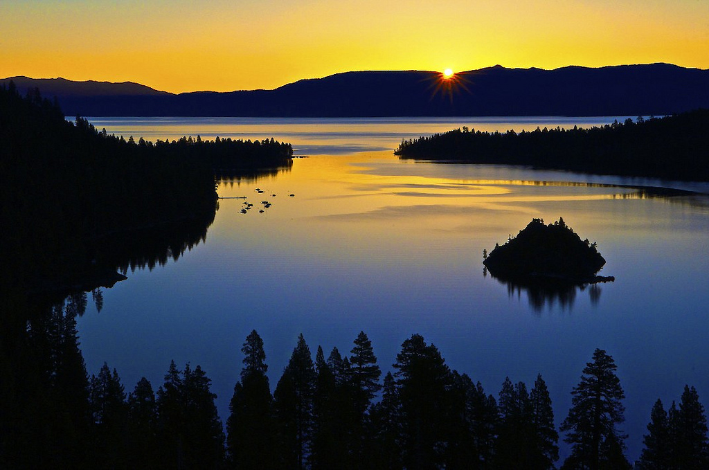 Sunrise Over Emerald Bay, Lake Tahoe, California