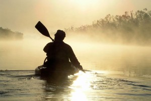 Sunrise Paddling the North Canadian River, Oklahoma