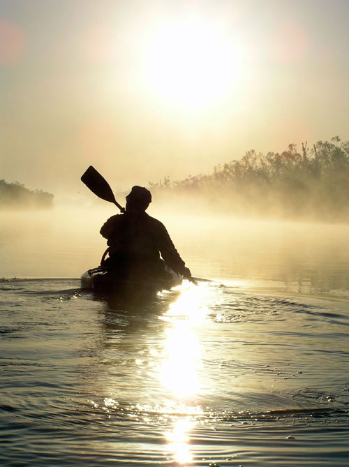 Sunrise Paddling the North Canadian River, Oklahoma