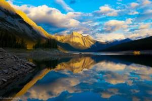 Sunrise on Medicine Lake, Jasper National Park, Canada