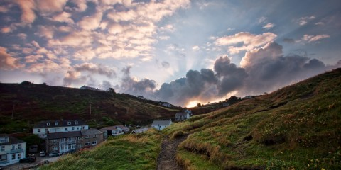 Sunrise Over Mullion Cove, Cornwall, United Kingdom
