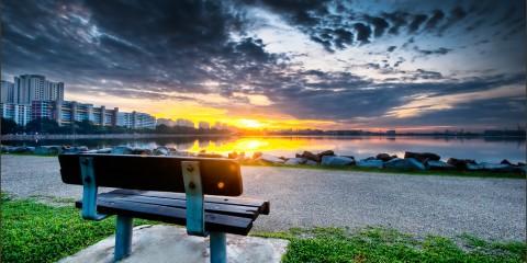 Sunrise Over Pandan Reservoir, Singapore