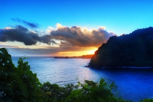Sunrise on the Road to Hana, Maui, Hawaii