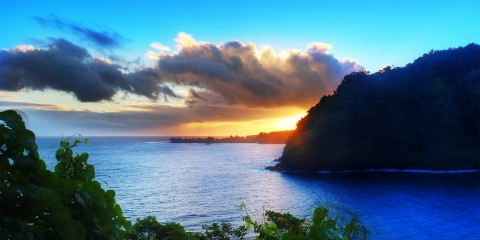 Sunrise on the Road to Hana, Maui, Hawaii