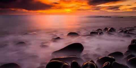 Sunrise at Swine's Den, Northumberland, England